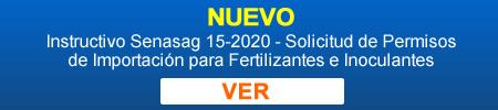 imagen: Instructivo Senasag 15-2020 - Solicitud de Permisos de Importación para Fertilizantes e Inoculantes